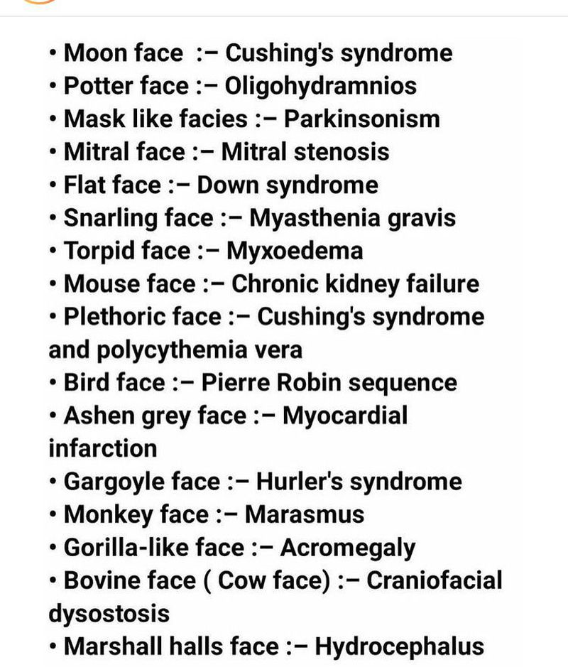 Diseases with face recognition.