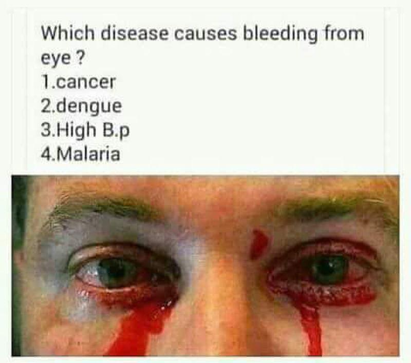 Disease causing eye 👁 bleeding !